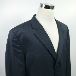 Jos A Bank Mens 48R Travelers Sport Coat Dark Navy